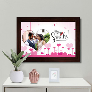 You Make me Smile Personalized Frame