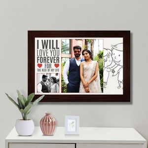 I Love you Forever Personalized Frame