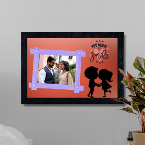 Personalized You make me Smile Frame