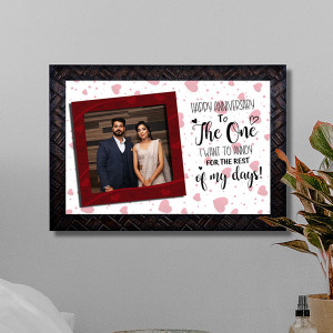 Happy Anniversary Wishes Personalized Frame