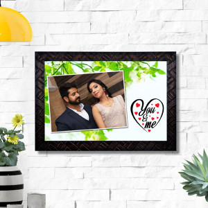 You N Me Personalized Wooden Frame