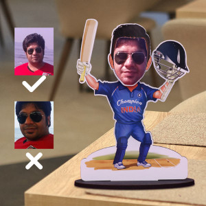 Best Cricketer Ever Bobble Head Caricature