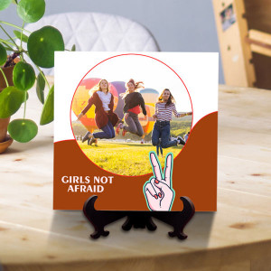 Girls Not Afraid Personalized Tile