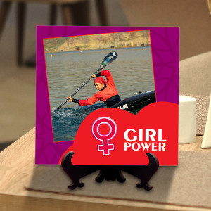 Girls are Powerful Personalized Tile