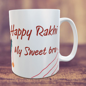 Personalized Happy Rakhi My Sweet Bro Mug