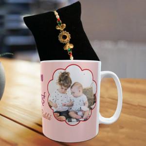 Personalized Love U Bhai Mug Rakhi Combo