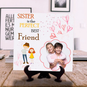 Sister is Perfect Best Friend Personalized Tile