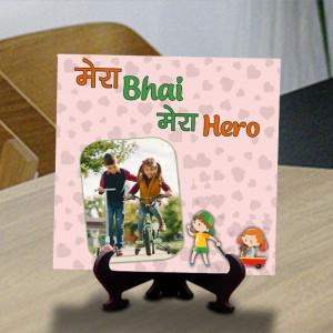 Mera Bhai Mera Hero Personalized Tile
