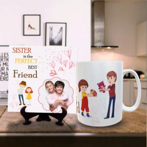 Sister Perfect Friend Personalized Mug Tile Combo