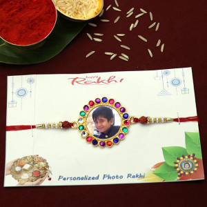 Designer Stone Personalized Rakhi for Kids