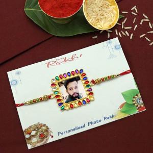 Splendid Square Shape Personalized Rakhi