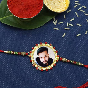Personalized Golden Rakhi for Brother