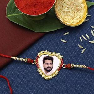 Personalized Heart Shape Rakhi for Bro