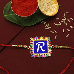 Name First Letter Personalized Rakhi