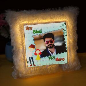 Personalized Mera Bhai Mera Hero LED Cushion
