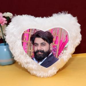 Personalized Heart Shape LED Cushion