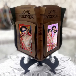 Personalized Love Forever wooden Lamp