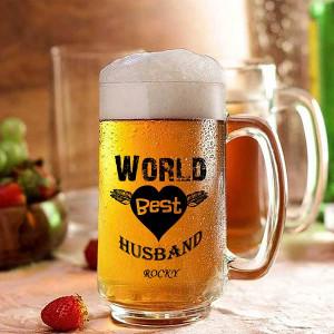 World Best Husband Personalized Beer Mug