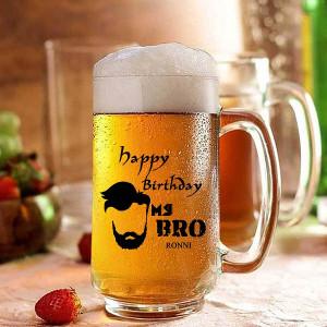 Personalized Happy Birthday Beer Mug