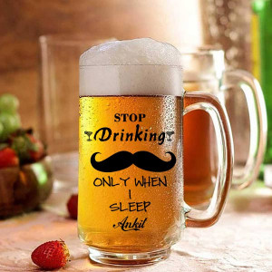 Stop Drinking Personalized Beer Mug