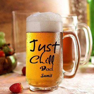 Just Chill Dad Personalized Beer Mug