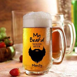 My Beard Need Beer Personalized Beer Mug