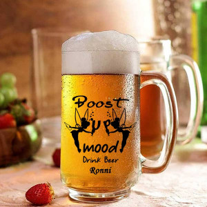 Boost up Mood Personalized Beer Mug