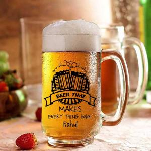 Beer Time Personalized Beer Mug