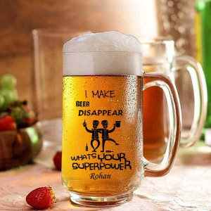 Personalized Beer Disappear Beer Mug for Friends