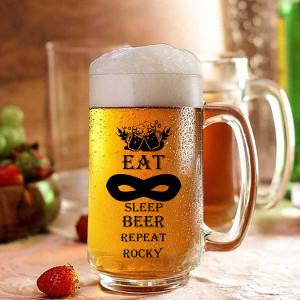 Eat Sleep Beer Repeat Personalized Beer Mug