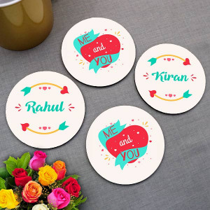 Me and You Personalized Coaster set