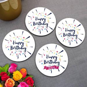 Personalized Birthday Wishes Coaster set