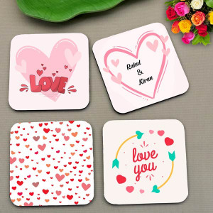 Personalized My Love Coaster set