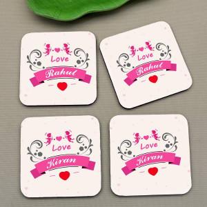 Personalized Loving Couple Coaster set