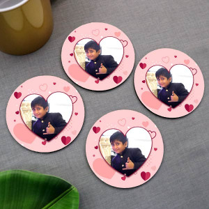 Photo in Heart Personalized Coaster set