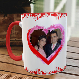 Full of Heart Anniversary Personalized Mug