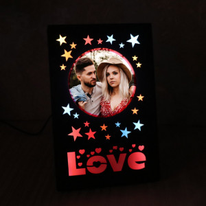 Personalized Love LED Wooden Frame
