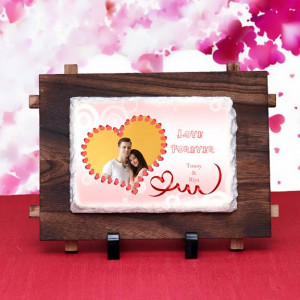 Personalized Love Forever Rock Tile
