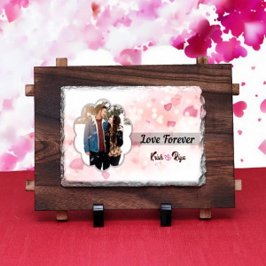 Personalized Love Forever Rock Tile for Couple