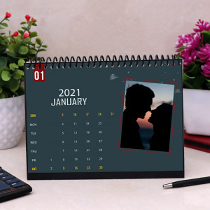 Personalized Calendar in Blue Theme