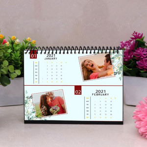 Turquoise Blue Personalized Calendar