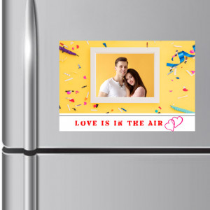 Love is in the Air Personalized Fridge Magnet