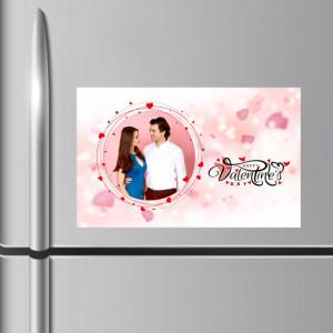 Valentine Wishes Personalized Fridge Magnet