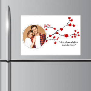 Life is Flower Personalized Fridge Magnet
