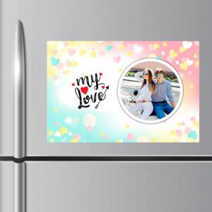 Personalized My Love Fridge Magnet