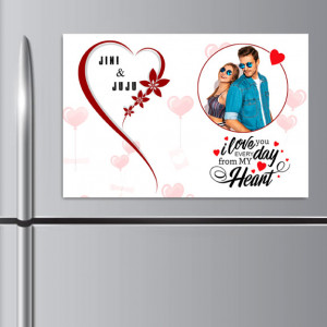Love You Everyday Personalized Fridge Magnet