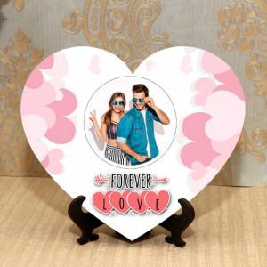 Forever Love Personalized Heart Shape Frame