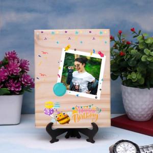 Personalized Happy Birthday Wooden Plaque