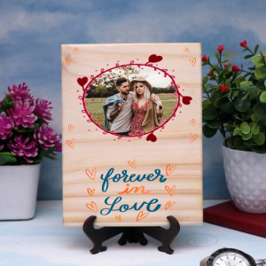 Forever in Love Personalized Wooden Plaque