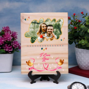 I Love You Personalized Wooden Plaque